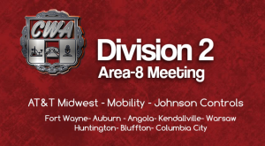 Division 2 Area 8 (Fort Wayne Area) Membership Meeting @ USW 903 Union Hall